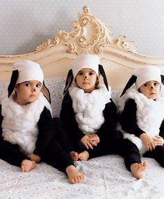 Little sheep kid's Halloween costume idea