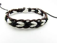 Soft Leather and cotton ropes Woven Women's by braceletcool, $3.50