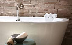 Put your feet up and relax in a serene, spa-like bathroom, right in your own home. Click through to see this fabulous bathroom.