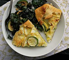 Summer Squash and Ricotta Galette by joanne-eatswellwithothers #Galette #Squash