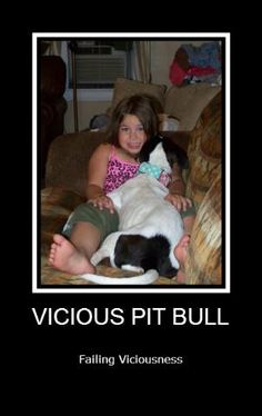 Girl and pit bull pet..#ViciousFail #PitBull...not