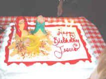 Happy Birthday Jesus! Christmas Eve having a Birthday cake for Jesus