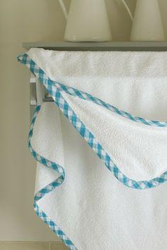 towel tutori, hood towel, babi towel, bias tape, sew