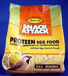 Higgins Snack Attack Egg Food - PROTEEN Yellow 8 oz