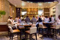 glitzy oyster bar at The Chase Fish and Oyster, by Audax Architecture
