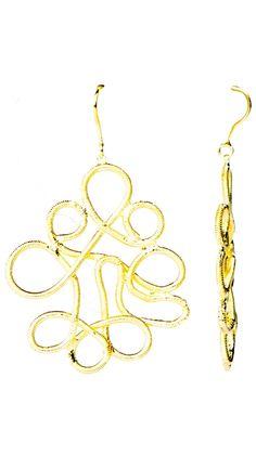 by Marcia Moran  Textured Spiral Earrings