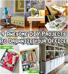 9 Awesome DIY Projects to Organize your Office offices, awesom diy, organ thing, diy projects