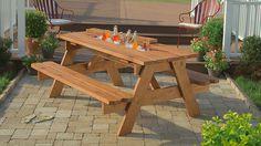 build picnic tables, builtin cooler, picnic table with cooler, how to build picnic table, diy wooden cooler