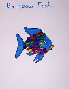 Rainbow Fish sticker art
