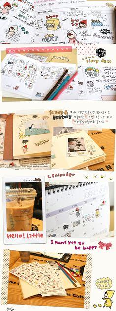 Pony Brown Sticker - My Little Friend - 1 set with 6 sheet $7.50