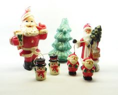 Vintage Christmas Candles  You get seven by RidleysRecycling, $15.00