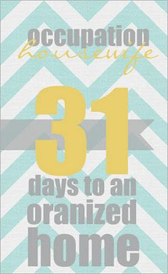31 days to an organized home.