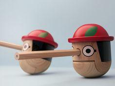 Honest Pinocchio pencil sharpener - by Pistachhi Design
