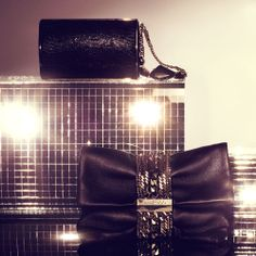 The Jimmy Choo CARMEN and mini CHANDRA clutches