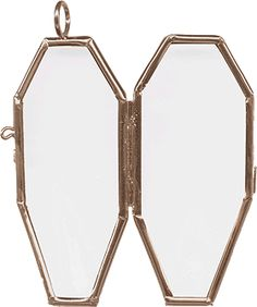 """Picture Frame, Hinged, Coffin, 2-3/4x1-1/4"""" perfect for your DIY jewelry creations!"""