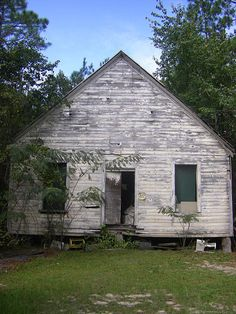 Vanishing South Georgia Old New Hope Primitive Baptist Church Abandoned Storage Barn Forgotten Mimosas Weathered Vernacular Photograph Picture Image Photo Copyright Brian Brown