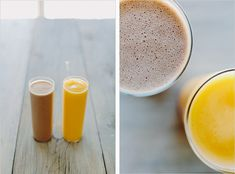His & Hers Smoothies by sproutedkitchen: Monkey Flip & Tropical Cooler #Smoothies #Healthy