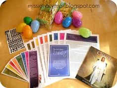 Easter - The Last Days of Christ.  A mom put this together to bring the true meaning of Easter into their lives during the week leading up to Easter Sunday. missionary mom, bookmarks, missionari mom, missionari mail, eggs, care packag, church, lds christ, easter ideas