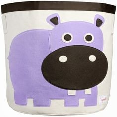 Hippo Canvas Storage Bin
