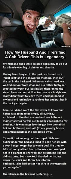 How My Husband And I Terrified A Cab Driver...