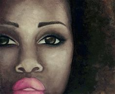 SALE 50 OFF  Original afro art painting  11 x 14 by DigitalRevolve, $45.00
