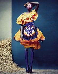 orang, fashion models, color blue, colors, african prints