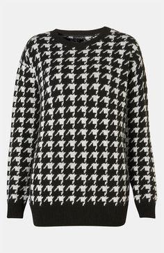 Topshop 'Houndstooth' Sweater #Nordstrom