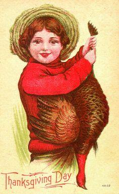 Vintage Thanksgiving Card postcards, animals, thanksgiv card, autumn, vintage, vintag card, vintag thanksgiv, thanksgiv vintag, thanksgiving cards