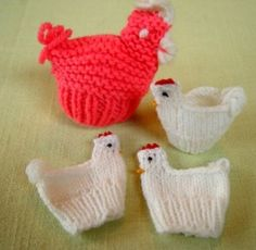 Etsy :: AppelJar :: 3 more old vintage CHICKEN HEN... The classic easter chicken. Fits over a plastic egg. crochet someday, knit crochet, knit toy, chicken hen, vintag chicken, easter eggs, easter craft