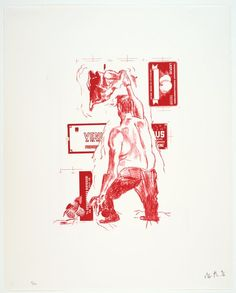"Martin Kippenberger, ""Motive No. 13, from the portfolio The Raft of Medusa"" (1996) 