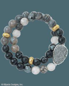 Ode to Geode Stretch Bracelet, Bracelets - Silpada Designs