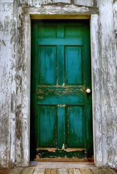 Old Doors | door, green, wood, green door, old, weathered, aged, vertical, vintage ...