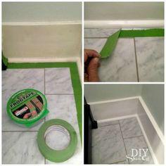 painting and caulking baseboard trim tutorial