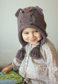Patron de tricot bonnet Hibou OWL WAYS (tailles: Tout Petit, Enfant, Adulte)