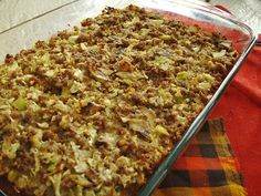 24/7 Low Carb Diner: Sausage and Sage - super stuffing recipe for Thanksgiving.  Visit us for more recipes at: https://www.facebook.com/LowCarbingAmongFriends
