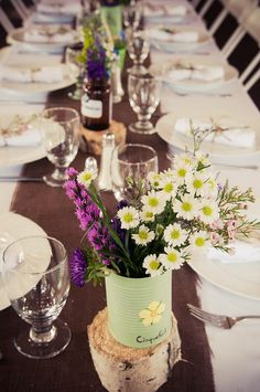 sweet simple centerpieces