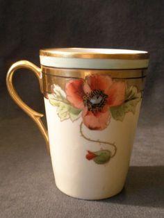 "Howard B Reury Chicago Studio H. P. Porcelain ""Poppies"" Lemonade Set w/Tray"