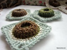 Moon Crater Square _ pattern available