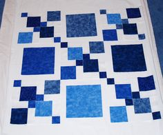 Shades of Blue - Disappearing Nine Patch Quilt Block
