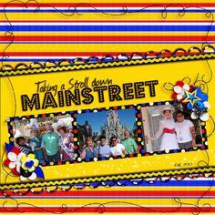 Main Street, Disney scrapbook layout