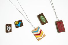 painted wood, graphic design, kid pictures, camp crafts, pendant, scrabble tiles, scrap wood, handmade gifts, wood scraps