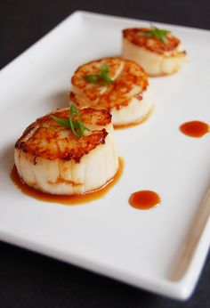 Orange Soy Glazed Scallops by allthingsnice. #Scallops #Orange #allthingsnice