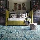 Reorinted-Teal carpet tile by FLOR