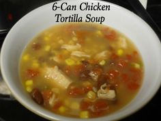 Not only is this 6-Can Chicken Tortilla Soup recipe super simple but it's oh so very tasty!