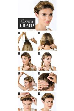 french braids, perfect crown, crown french, crown braid, summer braid