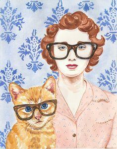 con gafas, ilustración de  Deidre Wicks
