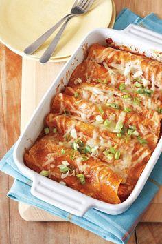 Gluten-Free Chicken Enchiladas. We use Udi's Gluten Free flour tortillas for this recipe!