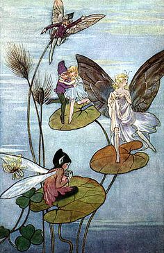 ≍ Nature's Fairy Nymphs ≍ magical elves, sprites, pixies and winged woodland faeries - fairies on lilypads