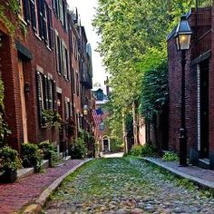 Top things to do in Boston. Pictured - Beacon Hill Alley.