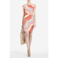 BCBG Christelle Printed Wrap Dress